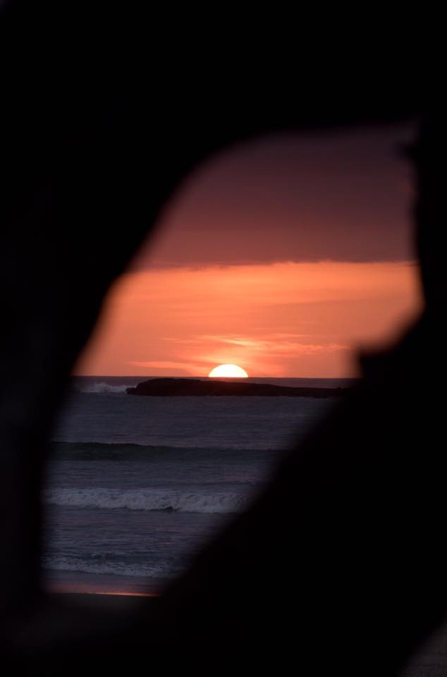 Sunset in Tamarindo, Costa Rica. Photographed by Kristen M. Brown, Samba to the Sea Photography.