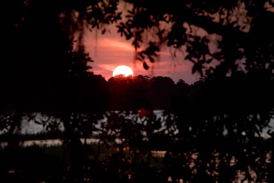 Sunset in Savannah, Georgia. Photographed by Kristen M. Brown, Samba to the Sea.