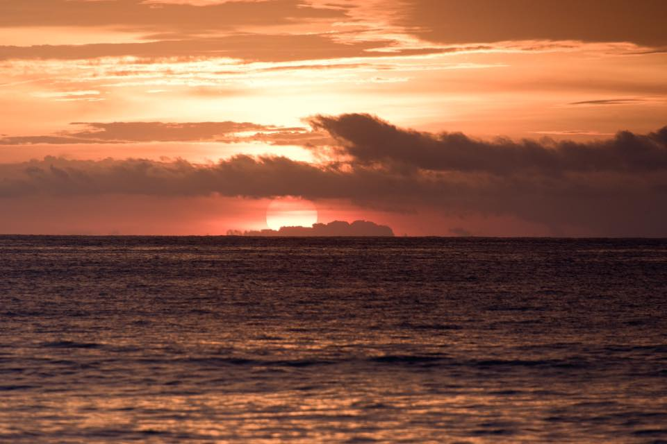 Costa Rica sunset over the Pacific Ocean. Photographed by Samba to the Sea.