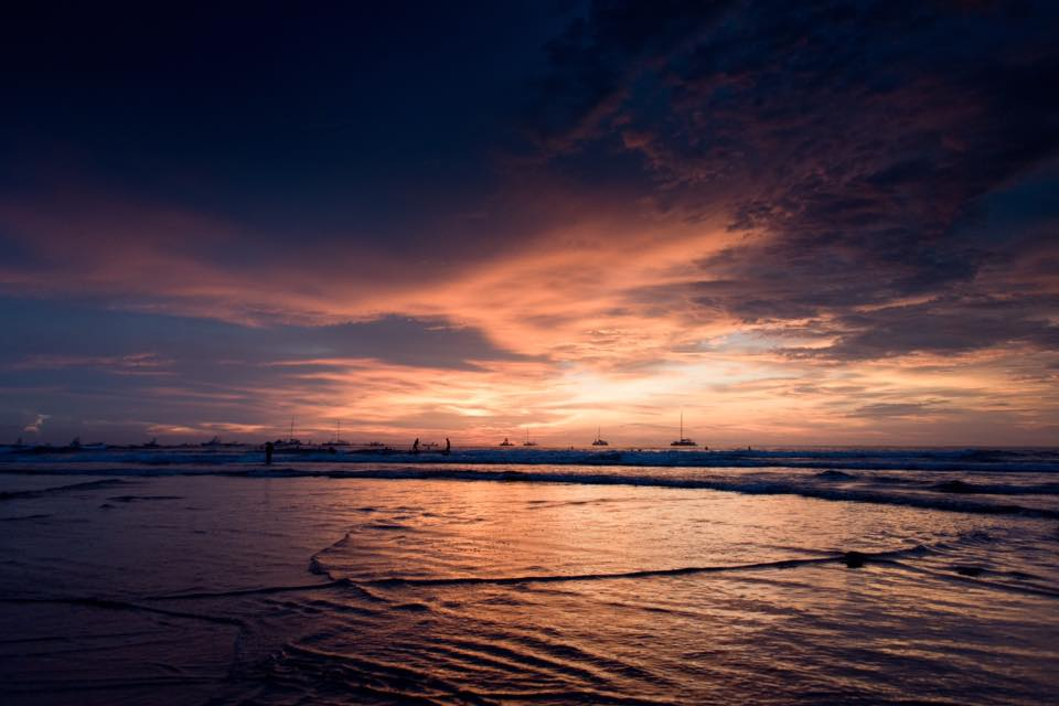 Stunning rainy season September sunset in Costa Rica. Photographed by Kristen M. Brown, Samba to the Sea Photography.