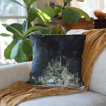 Live Oaks accent pillow by Samba to the Sea.