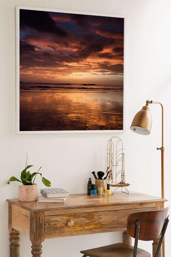 Golden sunset in Tamarindo Beach, Costa Rica. Fine art print by Kristen M. Brown, Samba to the Sea.