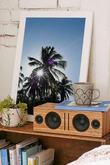 Sun star and palm trees in Tamarindo, Costa Rica. Fine art print by Kristen M. Brown, Samba to the Sea.