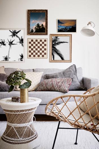 Palm tree photo collage. Fine art print by Kristen M. Brown, Samba to the Sea.