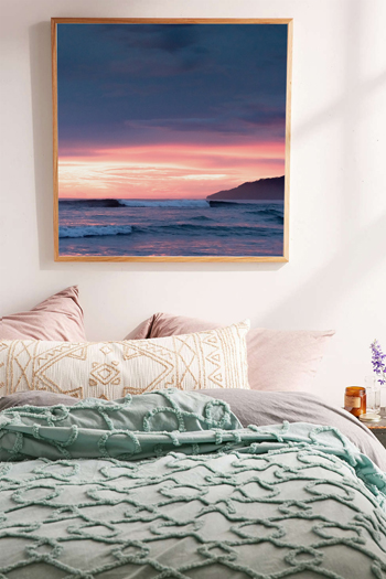 Breaking wave during a gorgeous pink sunset in Tamarindo, Costa Rica. Fine art print by Kristen M. Brown, Samba to the Sea.