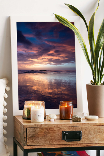 Purple sunset reflecting off the low tide sand in Tamarindo, Costa Rica. Fine art print by Kristen M. Brown, Samba to the Sea.