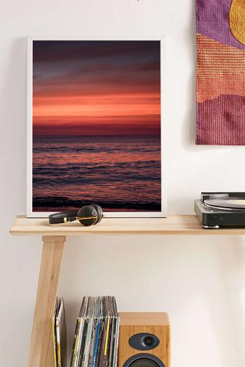 Gorgeous red sunset in Tamarindo, Costa Rica. Fine art print by Kristen M. Brown, Samba to the Sea.