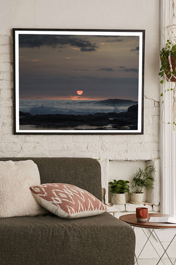 Wave breaking at the point in Tamarindo Costa Rica during sunset. Fine art print by Kristen M. Brown, Samba to the Sea.